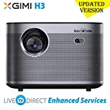CACACOL Updated XGIMI H3 Android 3D Smart TV Home Cinema 4K Projector | Native 1080p HD | 1900 ANSI...